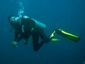 Divemaster Vince nach Sail Rock, Dec 2012