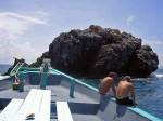 Surface interval on Chaloklum Diving boat at Sail Rock