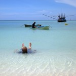 Zinken relaxes on his Padi Rescue Diver course