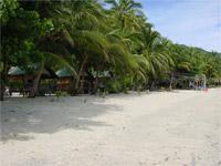 Baan Tai - view along the beach - Koh Phangan