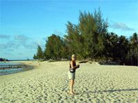 Angie on Mae Haad Beach, Koh Phangan