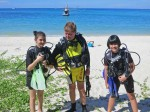 Padi Junior Open Water Divers with Daddy