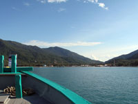 Chaloklum Bay, Koh Phangan - view from our diving boat
