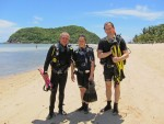 PADI Discover SCUBA Diving from the beach at Mae Haad Reef, Koh Phangan