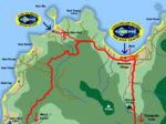 Location of Chaloklum Diving bases on Koh Phangan
