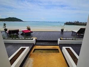 View from Mandalai Hotel over Chaloklum Bay, Koh Phangan